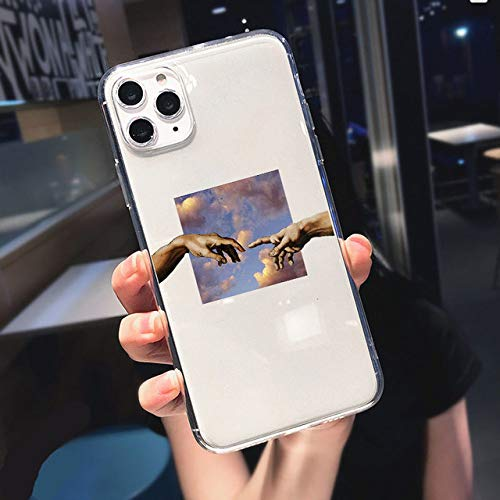 Funny Abstract Women Face Line Soft Phone Case para iPhone 11 Pro MAX 12 Pro SE 7 8 Plus XR XS MAX X Kiss Más a Menudo Clear Cover, T139, para iPhone 12 6.1
