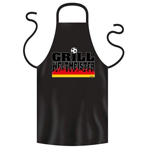 Goodman Design ® Voetbalbarbecueschort fanartikel Duitsland BBQ Grill wereldkampioen motief schort geschenk grillen, grill accessoires in zwarte wereldkampioen: