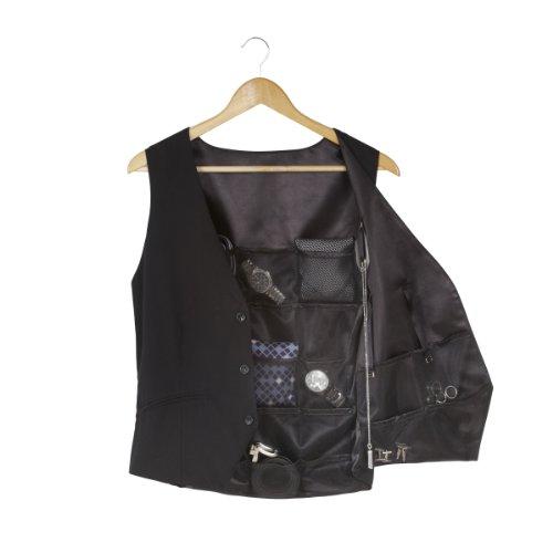 Umbra 299010-040 Weste zur Aufbewahrung von Accessoires, Männer Geschenk, schwarz, Vest Accessory Organizer