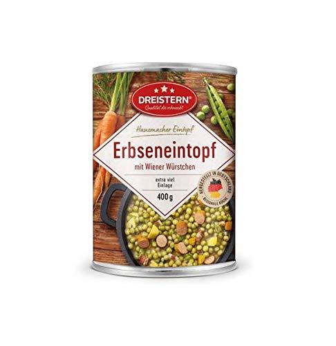 Dreistern Hausmacher Erbseneintopf+Wiener Würstchen 400gr Dose