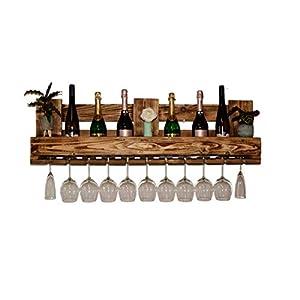 Weinregal aus Holz Schnapsregal vintage Stil für die Küche Hausbar Wandregal rustikal Bar Regal