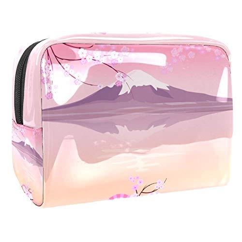 HEOEHBolsa de maquillaje de plástico con patrón de kimono floral japonés, organizador de cosméticos para mujer, ,  18.5x7.5x13cm/7.3x3x5.1in,  Multicolor 09, 1 uds. por paquete, ]