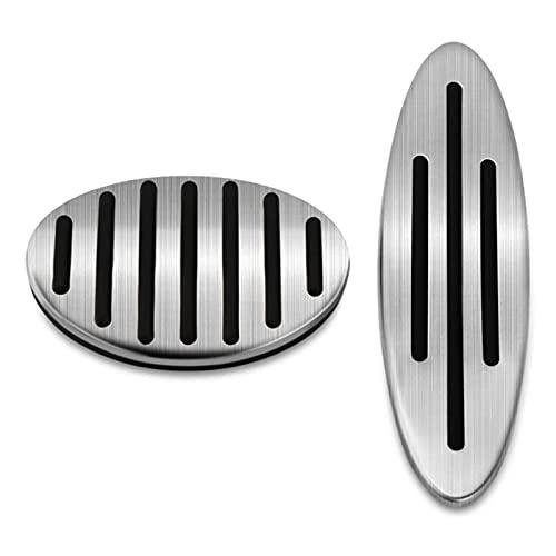 CMEI Conjunto de Cobertura del Pedal del Freno de Gas A Apto for Mini Cooper JCW R55 R56 R60 R61 F54 F55 F56 F60 (Color Name : Silver)