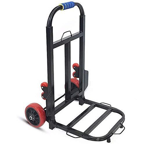 MIZE Eisen Trolley Transport Klappbar Leichtgängige Räder mit Soft-Laufflächen und bis 150 kg,Schwarz Klappbare Transportkarre für Angeln