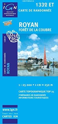 Carte de Randonnée 1332 ET : Royan, Forêt de la Coubre - 1/25000