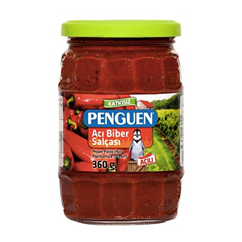 Penguen ペンギン 無添加 ホットパプリカペースト アジビベルサルチャ 360g トルコ産 Aci Biber Salcasi Pepper Paste Hot