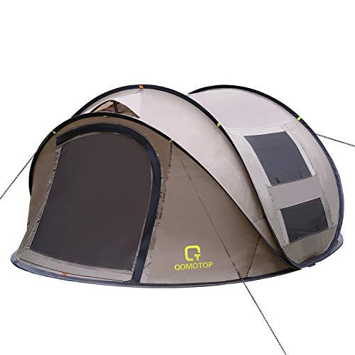 OT QOMOTOP 4 Person Pop up Tent, 9.5'X7'X50