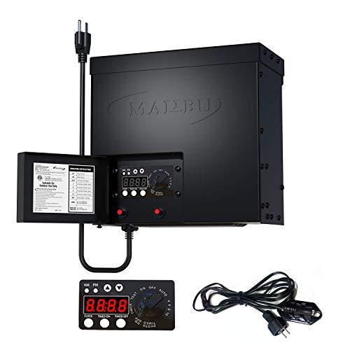 Malibu 600-Watt Transformer with Timer and Sunlight Sensor for Low Voltage Landscape Lighting 120V Input 12V Outdoor
