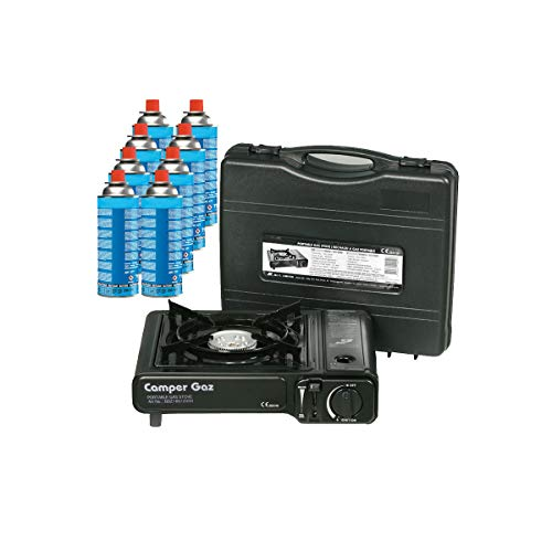 Rechaud gaz portable 2200W CAMPER GAZ + 8...