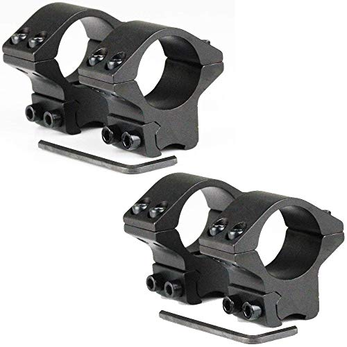 360 Tactical– Pack of Two 1 inch Low Profile Rifle Scope Rings with 2 Pieces in Each Pack Fits 11mm Dovetail Rail Optic Rings in & Durable