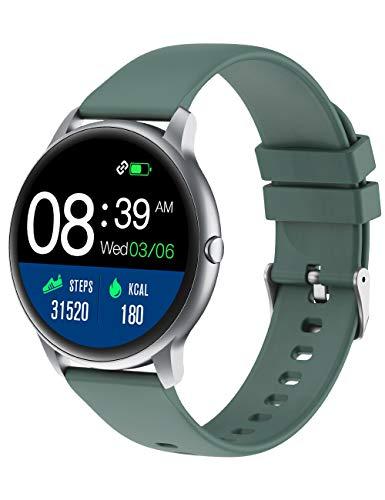 YAMAY Smartwatch, Reloj Inteligente Pulsómetros para Mujer Hombre, Pulsera de Actividad Inteligente Impermeable IP68 con Monitor de Sueño Contador de Caloría Podómetro Cronómetros para Android iOS