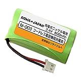 シャープ M-003 パナソニック 対応 BK-T406 コードレス 子機 充電池 互換 バッテリー 【大容量 通話時間UP】【ロワジャパン】