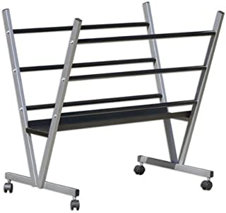 Art Expo Metal Art Professional Print Rack, Holds Posters, Prints, Canvas Art for Shows & Storage, Mobile with Rolling Casters Size 22