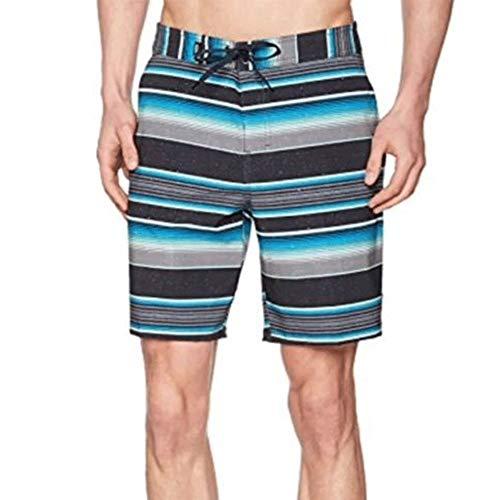 Vans Herren Badehose Rockaway Boardshort, Mehrfarbig (Black Stripe KVY), Small (Herstellergröße: 30)