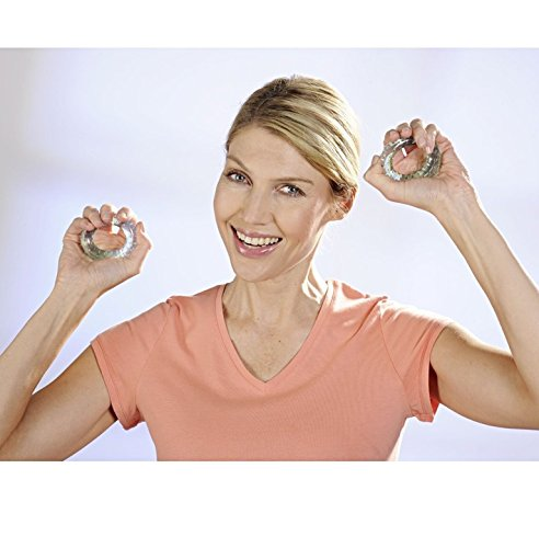 Handtrainer Fingertrainer Flexringe Fitness 2 Ringe Noppen Trainer Hand Therapie