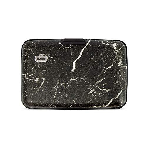 Ögon Smart Wallets - Stockholm Aluminium Geldbörse - RFID Schutz - Bis zu 10 Karten und Banknoten (Marble Style)