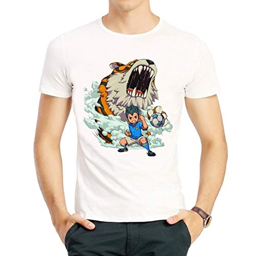 Inazuma Eleven T Shirt Fashion Short Sleeve White Color Inazuma Eleven Logo T Shirt Tees Top Tshirt Unisex Inazuma 11 T-Shirt-2,XXXL