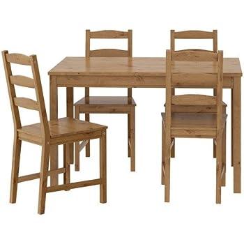 Ikea Jokkmokk Tisch Und 4 Stuhle Antike Fleck 14 L Amazon De