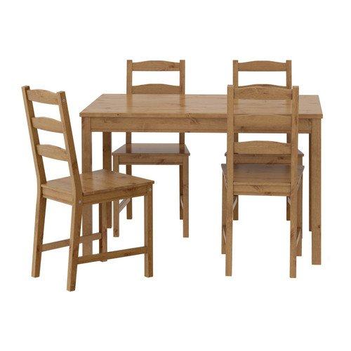 IKEA (イケア) JOKKMOKK テーブル&チェア4脚, アンティークステイン (603.658.03)
