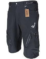 Lixada Korte herenfietsbroek, ademende fietsbroek, sneldrogende MTB-broek, waterafstotende outdoorbroek/wandelbroek