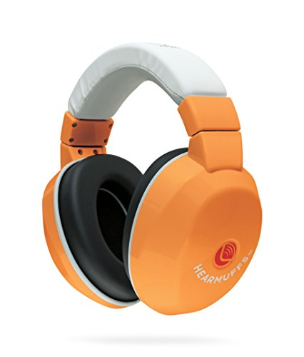Lucid Audio HearMuffs Kids Hearing Protection Orange/White (Over-the-ear Sound Protection Ear Muffs Ages 5+)