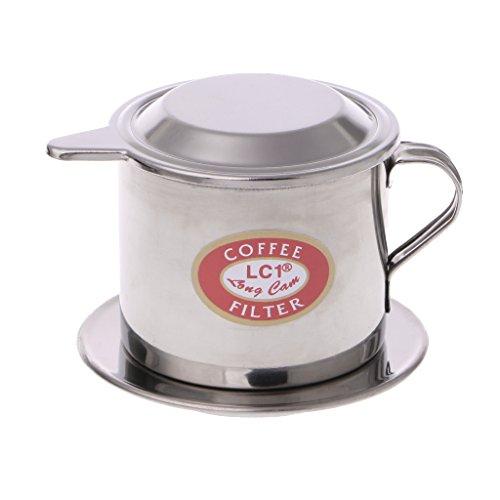 ZOOMY Edelstahl Kaffeefilter Vietnamesische Kaffeefilter Tasse Brewer Tool