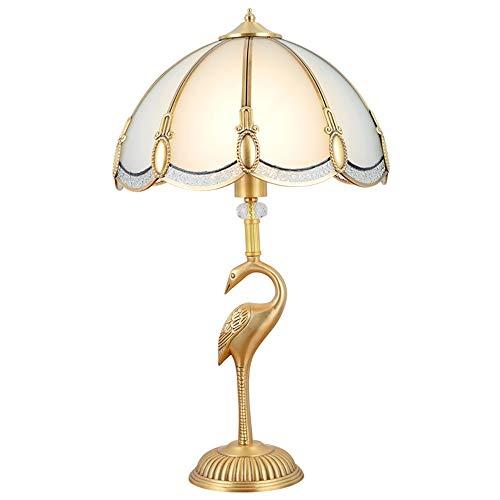FAGavin Lámpara de mesa de latón para dormitorio, lámpara de mesita de noche, estilo vintage, minimalista, lámpara de mesa decorativa de hotel