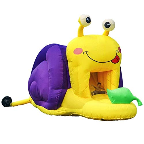 FGVDJ LuoMei Children's Inflatable Castle Snail Inflatable Trampoline Slide Naughty Castle Indoor Small Children's Playground Household Jumping Bed Outdoor Commercialcolors, 642x286x276cm