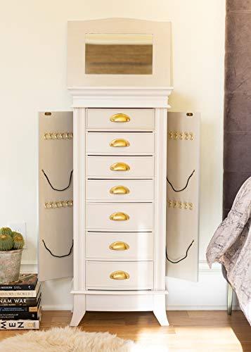 Hives and Honey Alexa Jewelry Armoire WHITE