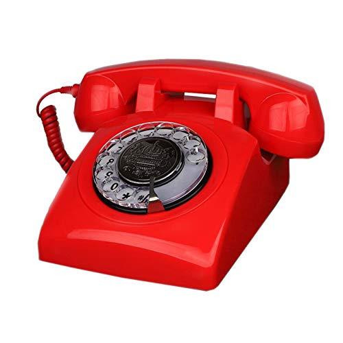 LYQQQQ Inicio Retro Teléfono Móvil Resina Mecánico Double Bells Dial Garden Oficina Creativa 13.5cmx22.5cmx12cm (Color : Red)