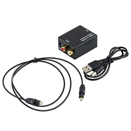 teng hong hui Toslink óptico coaxial Digital a analógico o Digital del convertidor o convertidor Digital Adaptador RCA L/R de 3,5 mm Puerto de Salida