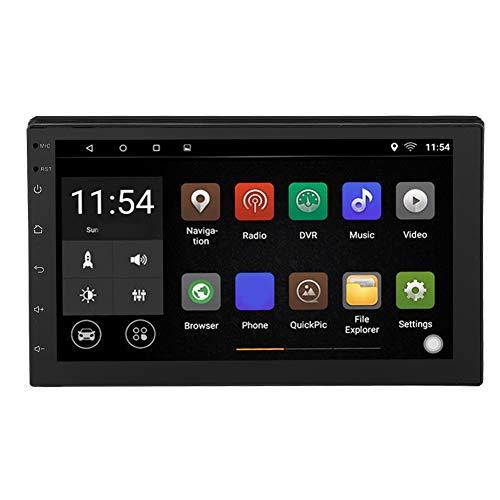 Autoradio Double DIN, 7 Pulgadas 2 DIN Vehículo MP5 Radio FM Android 8.1 Car Stereo Radio Audio, Dual DIN Car GPS Imagen Invertida Reproductor de Musica Soporte WiFi, Bluetooth, Navegación GPS, USB