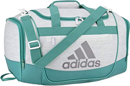 adidas Defender III Small Duffel, Jersey White/True Green, Small