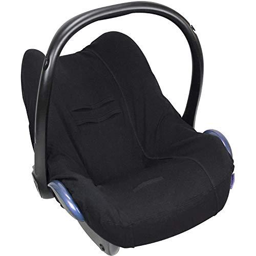Dooky Seat Cover 0+ Black Uni Housse de siège auto (pour système de ceinture 3 et 5 points, pour la tranche d'âge 0+, convient à la plupart des marques), Noir