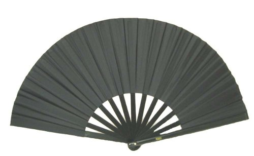 House of Rice Black Performance Folding Fan #359