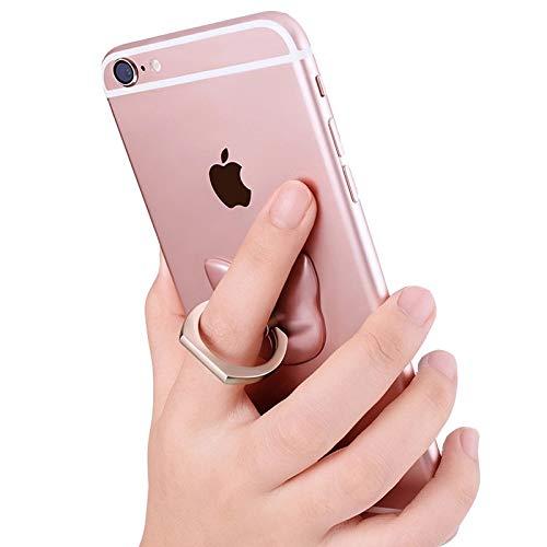 Schale für iPhone 7 Plus, Hülle für iPhone 8 Plus aus transparentem Silikon + freier Ringhalter, Schutzhülle mit Flanschen für iPhone 7 Plus / 8 Plus