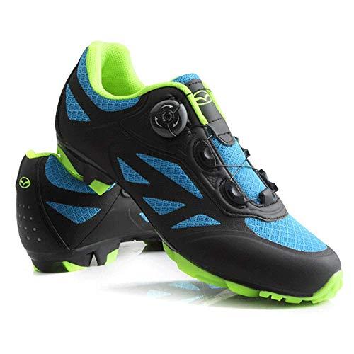 HaoLin Zapatillas De Bicicleta De Montaña MTB Cycle Sneaker Add Cleats Men Breathable Self-Lock Sapatilha Ciclismo Triathlon Racing Shoes,Black-43