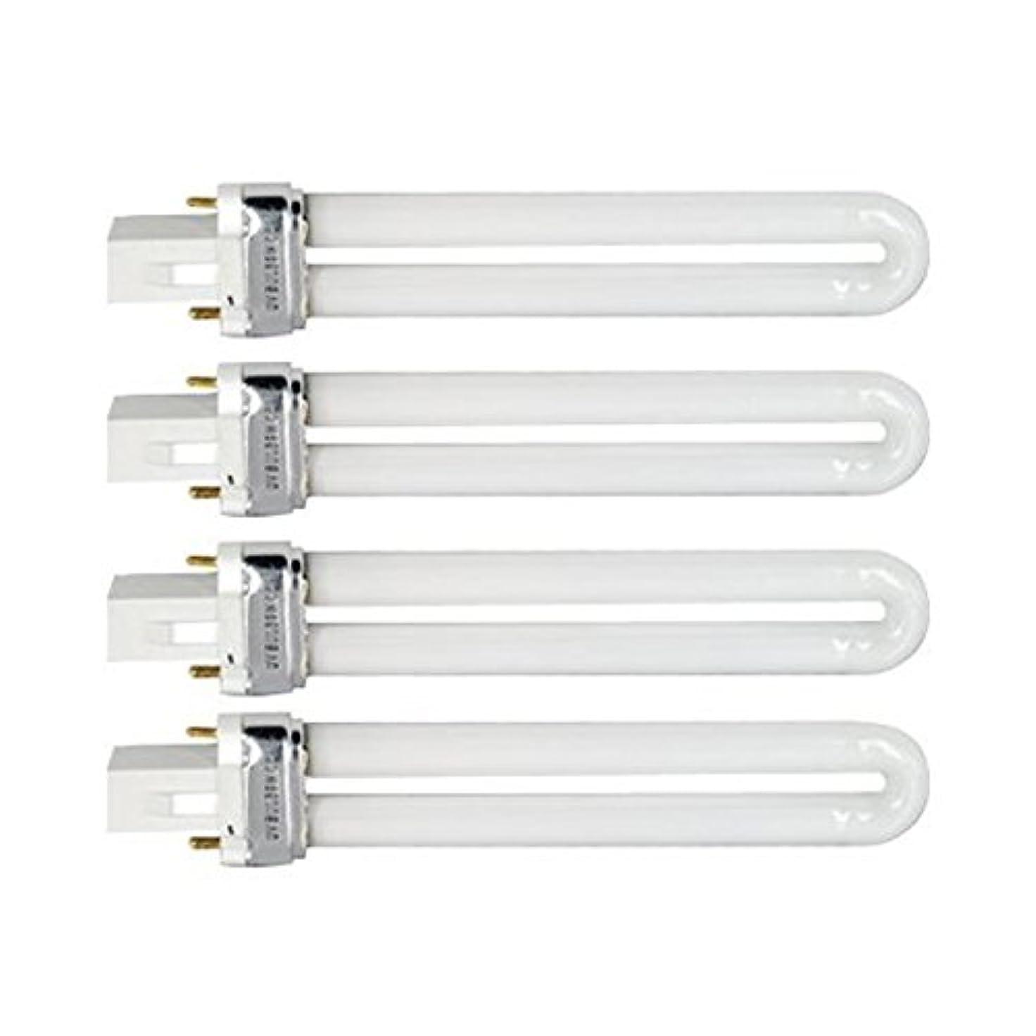 矢回転させる所持Tinksky UV灯 紫外線 殺菌灯 電球交換 9 ワット U 型 365 nm ランプ電球チューブ ネイル アート Dryer-4 pcsset