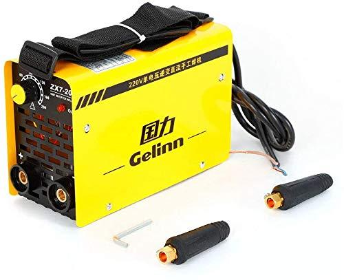 Yunrux Mini poste à souder à inverter 220 V 50/60 Hz IGBT avec électrodes professionnelles 200 A