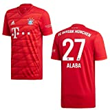 adidas Bayern Trikot Home Kinder 2020 - ALABA 27, Größe:140