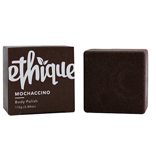 Ethique Eco-Friendly Body Polish, Mochaccino - Deep Exfoliating Body Scrub for All Skin Types, Sustainable Natural Body Scrub, Plastic Free, Vegan, Plant Based, 100% Compostable and Zero Waste, 3.88oz
