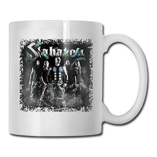 fangzi Sabaton Tasse weiße Kaffeetasse Home Ceramic Office Teetasse 11OZ, Druck auf beiden Seiten