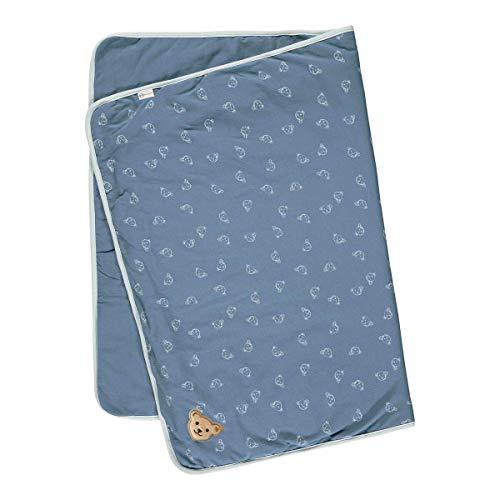Steiff Unisex Baby Halstuch 2er Pack Decke Jersey GOTS, Coronet Blue, One Size