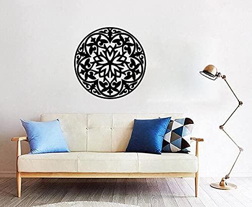 Pegatinas de pared con citas positivas islámicas símbolos árabes musulmanes calcomanías de decoración del hogar pegatinas de fondo de vinilo extraíbles 57x57cm
