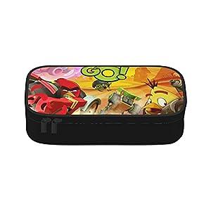 Angry Birds Go – Estuche para lápices, gran capacidad para lápices, con asa, bolsa de lona para papelería, para escuela…