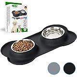 NEEZ Comedero perro Gato bebedero gatos perros (Black)