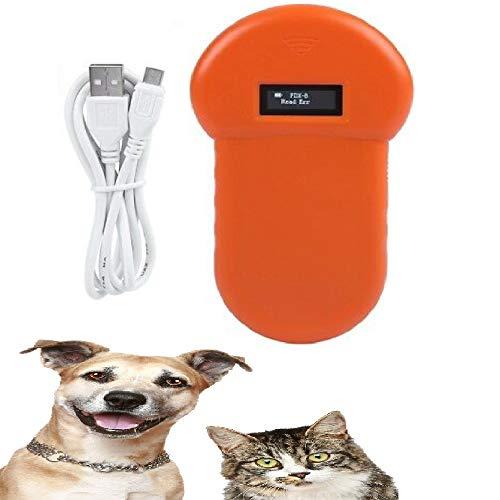 KKmoon Tierchip Lesegerät Chipleser 134.2KHz Taschenleser Handheld Animal Chip Reader Scanner Haustier Handheld-LED-ID-Lesegerät für Haustier-Mikrochips Hund Cat ID Reader