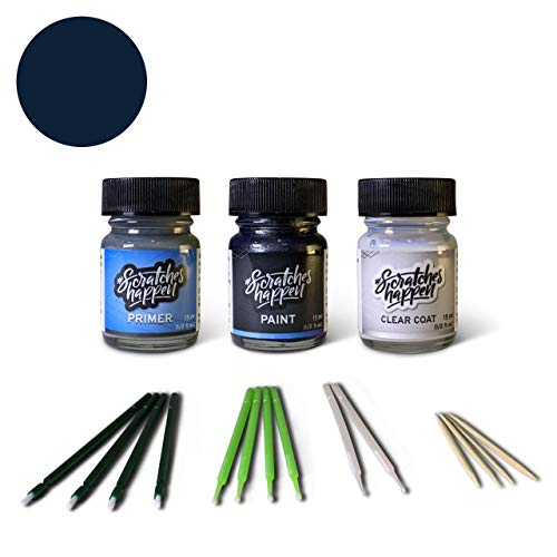 ScratchesHappen Exact-Match Touch Up Paint Kit Compatibel met Ford/Lincoln Donkerblauw (DX/M7083A) Preferred