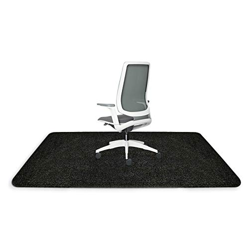 Office Desk Chair Mat for Hardwood/Tile Floor 48' x 36',4MM Thick,Hard Floor Protector Mat for Rolling Computer Gaming Chair,Anti-Slip,Non-Curve,Multi-Purpose Chair Carpet for Home Dark Gray