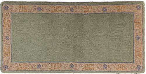 Lifetex.eu Brücke Modern ca. 140 x 70 cm · Grün · handtuft · Polyacryl · Modern · hochwertiger Teppich · 15916